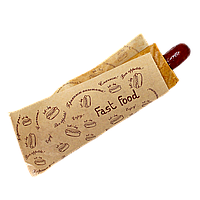 """Уголок бумажный """"FAST FOOD"""" 200х85мм (ВхШ) 40г/м² 500шт (44) Крафт"""