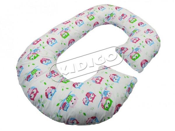 Подушка для вагітних та годування KIDIGO Рогалик - Сова (з наволочкою)