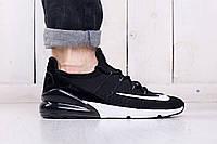 Кроссовки на лето мужские Nike Air Max 270 black (найк аир макс)  (реплика)