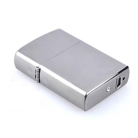 Зажигалка  электроимпульсная  SUNROZ, портативная перезаряжаемая USB зажигалка, Серебристая, фото 2