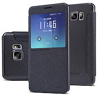 Чехол книжка Nillkin Sparkle Series для Samsung Galaxy Note 5 n920 черный