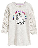 Теплое нарядное платье туника для девочек, H&M