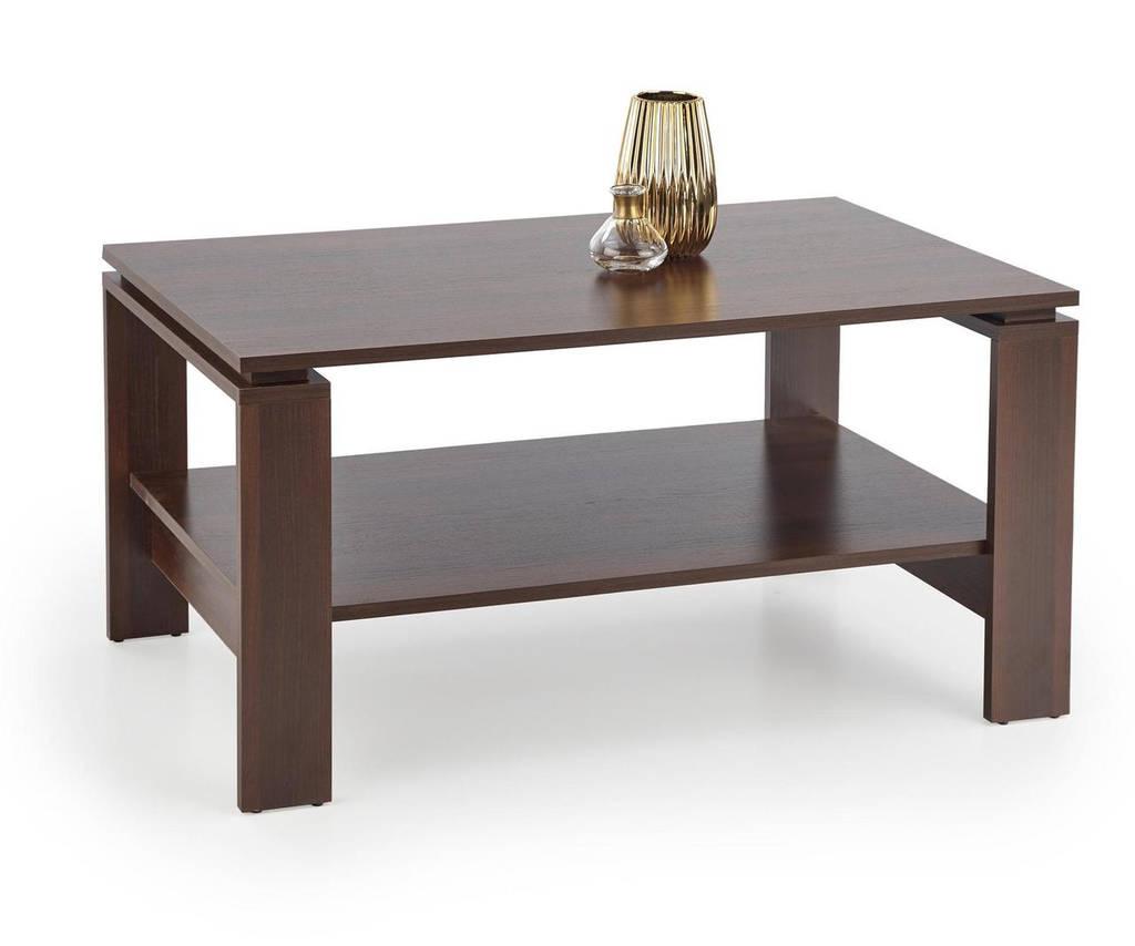 Журнальный столик ANDREA темный орех Halmar