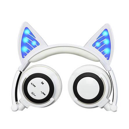 Наушники LINX BL108A Bluetooth наушники с кошачьими ушками LED Белые, фото 2