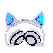 Наушники LINX BL108A Bluetooth наушники с кошачьими ушками LED Белые, фото 3