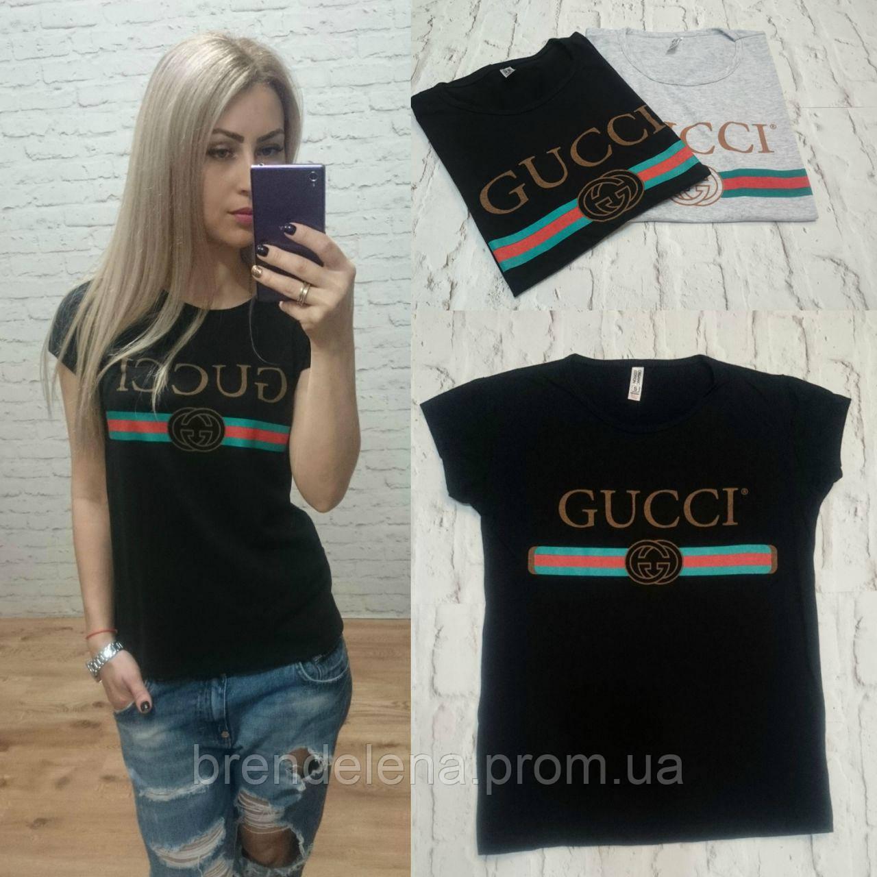 Молодіжна стильна футболка GUCCI р (44-46-48)