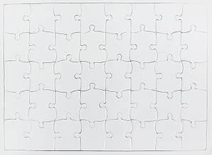 Пазл для сублимационной печати  в рамке ( 40 эл.)