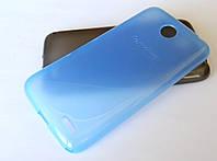 Чехол силиконовый оригинальный однотонный для Lenovo A516 голубой