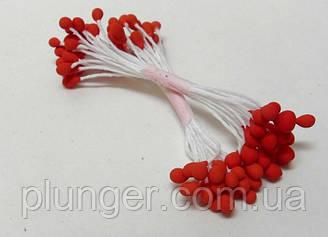 Тычинки круглые красные для создания цветов