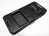Чехол книжка с окошками momax для HTC Desire 620 / 620G dual sim / 820 Mini черный