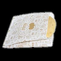"Пакет Бумажный ""Пицца/Хачапури""  170*180*50 100шт Белый с рисунком (286)"