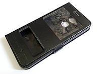 Чохол книжка з віконцями momax для Huawei Honor 6C Pro чорний