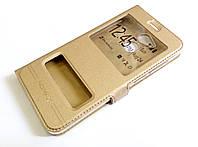 Чохол книжка з віконцями momax для Huawei Honor 6C Pro золотий