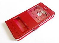 Чохол книжка з віконцями momax для Huawei Honor 6C Pro червоний