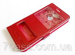 Чехол книжка с окошками momax для Huawei Honor 6C Pro красный