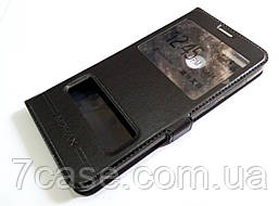 Чехол книжка с окошками momax для Huawei Honor 7X черный