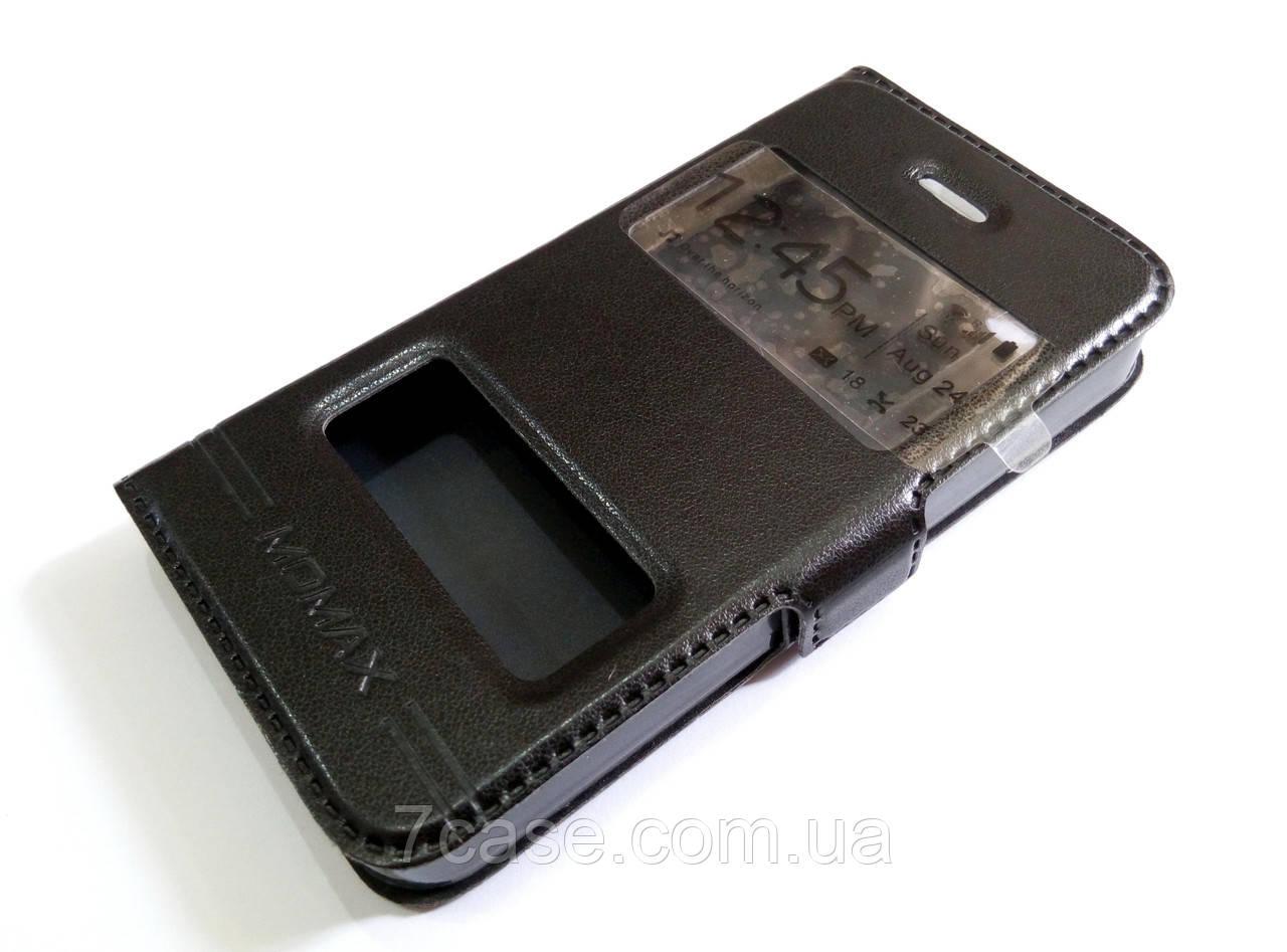 Чохол книжка з віконцями momax для Apple iPhone 4 / 4s чорний