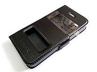 Чехол книжка с окошками momax для Apple iPhone 4 / 4s черный