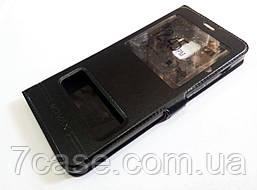 Чехол книжка с окошками momax для Samsung Galaxy A8 Plus A730f (2018) черный
