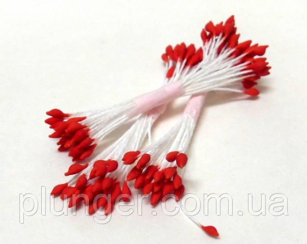 Тычинки остроконечные красные для создания цветов