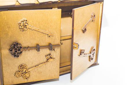 """Подарочный деревянный сувенирный набор """"Настенная Ключница Большая Винтаж"""" ручной работы , фото 2"""