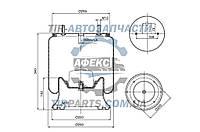 Пневмоподушка (с мет стаканом) SAF 2618 2 шпильки-воздух, 4004NP05, W01M586366, 1T30037, 08409972, 1R11706,