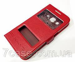 Чехол книжка с окошками momax для Samsung Galaxy Core Prime g360h красный