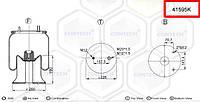 Пневмоподушка (с мет стаканом) FRUEHAUF, SMB-Benz шпилька-воздух усиленный стакан W01M588859, 08417271,