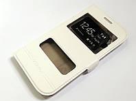 Чехол книжка с окошками momax для Samsung Galaxy Grand duos i9082 / Grand Neo i9060 белый
