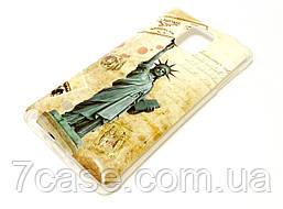 Чехол силиконовый с рисунком статуя свободы для Samsung Galaxy Note 4 n910