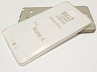 Чехол для Samsung Galaxy Note 4 N910 силиконовый ультратонкий прозрачный