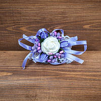 Свадебная бутоньерка на руку в сиреневых тонах (арт. BUT-H-007)