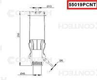 Пневмоподушка амортизатора кабины Mercedes-Benz Actros задняя, 105409, 290997, старый код 94289PR (9428900219, 9428906019   55019PCNT)