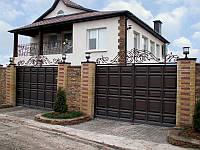 Распашные ворота 5000х2500 заполнение филенка, фото 1