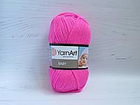 Пряжа для ручного вязания YarnArt Baby цвет 174, детский акрил для вязания одежды и игрушек, детская пряжа