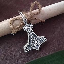 """Серебряная подвеска """"Молот Тора"""" крупный из серебра 925 пробы"""