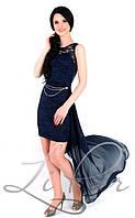 """Красивое женское платье ткань """"Стрейч-гипюр"""" 46 размер норма"""
