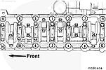 Момент затяжки коренных подшипников двигателей Cummins B 3.9, B4.5 RGT, B5.9