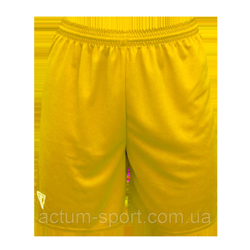 Шорты футбольные Universal Titar Желтый, XL