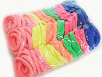 Разноцветные резинки для волос в наборе 100 шт