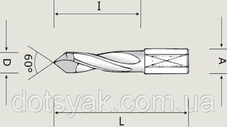 Сверла Nordutensili сквозные четырехфлейтные, фото 2