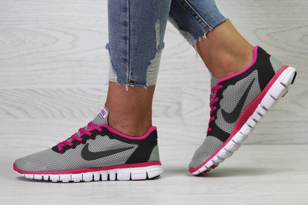 f536653b Кроссовки в стиле Nike Free 3.0 (серые с розовым) летние кроссовки найк nike  5432 ...