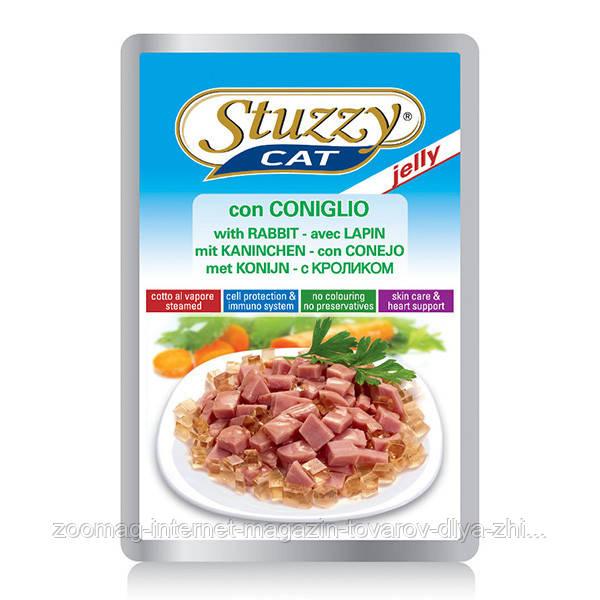 Влажный корм STUZZY Cat (Пауч) для котов кролик в соусе  0.1 кг.