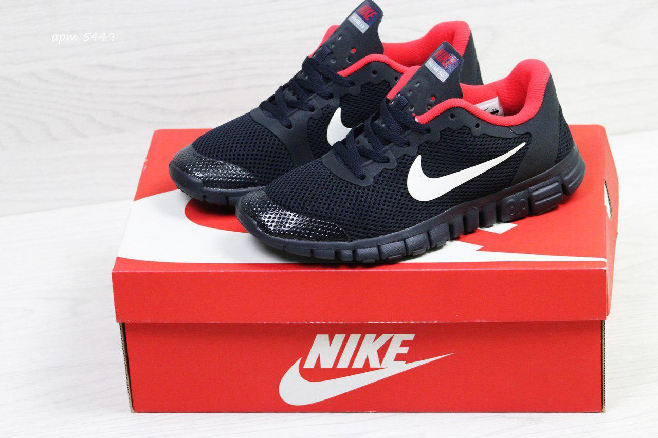 7f48fc27 Кроссовки в стиле Nike Free 3.0 (темно синие с красным) летние кроссовки  найк nike
