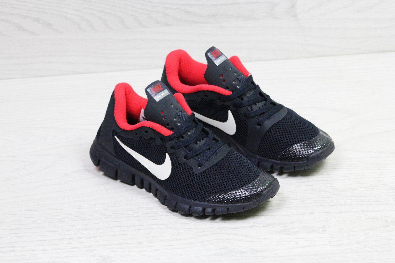 e789a6ebc32b ... Кроссовки в стиле Nike Free 3.0 (темно синие с красным) летние кроссовки  найк nike ...