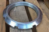Гайка М10 круглая шлицевая ГОСТ 11871-88, DIN 981, фото 1