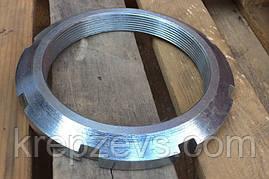 Гайка М10 круглая шлицевая ГОСТ 11871-88, DIN 981