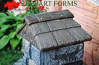 """накриття на стовп """"дерево 1.1"""" (48Х50Х22) силікон+склопластик Форма для бетону."""