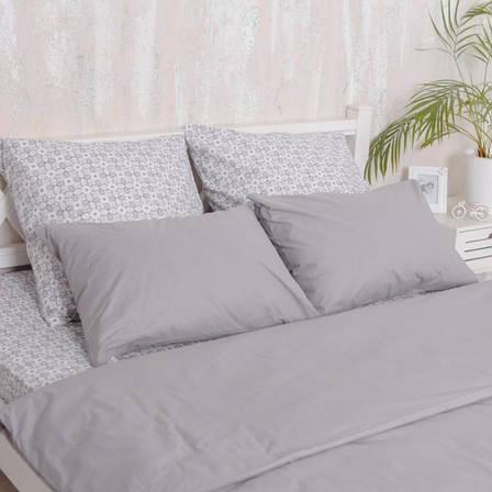 Двуспальный Евро комплект постельного белья Grey, фото 2