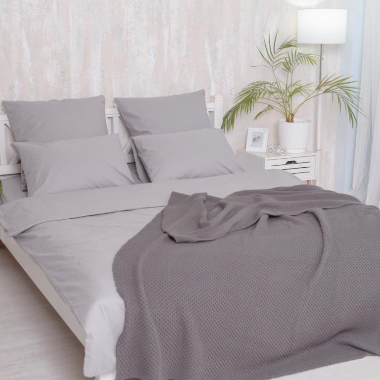 Двуспальный Евро комплект постельного белья Grey